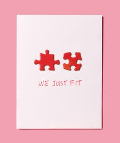 DIY Puzzle Pieces Handmade Valentine // Make your own for your special Valentine!