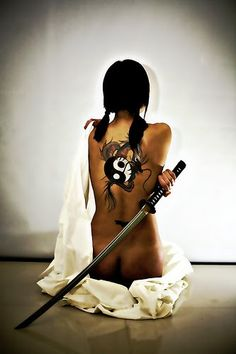 Samurai girl. Beautiful and dangerous