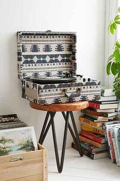 Crosley AV Room Geo Fabric Vinyl Record Player - Urban Outfitters