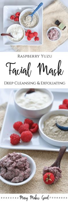 Make Your Own Raspberry Yuzu Facial Mask - a Deep Cleansing and Exfoliating Fresh Facial