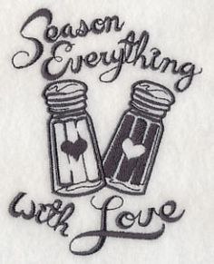 Season Everything with Love design (J8707) from www.Emblibrary.com