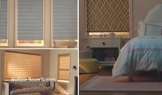 powerview motorized shades add style to any room and you can schedule when they go up and down on their own - Hunter Douglas Motorized Blinds