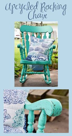 Cheap and quick upcycle on a chair I bought at a yard-sale for next to nothing!
