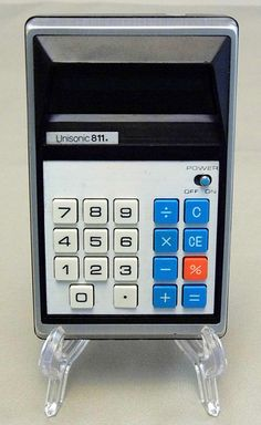 Vintage Unisonic Model 811-A LED Handheld Electronic Calculator, Made in Japan, Circa the 1970s.