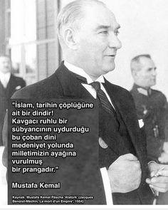 """Mustafa Kemal Atatürk:""""Islam,tarihin cöplügüne ait bir dindir!"""" Mason yahudi"""