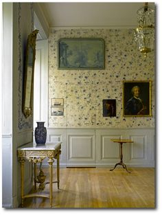 Gustavian Style - A Higher End looking Swedish style (vs Scandinavian Country Style). Stola Herrgård, Sweden