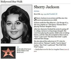 Hollywood Star Walk, Sherry Jackson, Danny Thomas, Beautiful Girl Body, Movie Stars, Love Her, Actresses, Film, Celebrities
