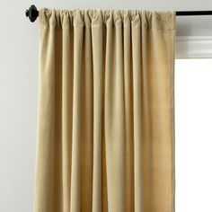 Cotton Velvet Rod Pocket Curtain Panel - Overstock™ Shopping - Great Deals on Jovi Home Curtains