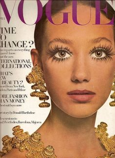 "Marisa Berenson on the cover of Vogue by David Bailey. YSL dubbed her the ""it girl"" of the 70s."