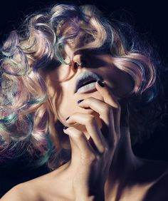 Medium Blonde Hair, Blonde Curly Hair, Uk Hairstyles, Blonde Hairstyles, Hair Expo, Editorial Hair, Alternative Hair, Rainbow Hair, Woman Face