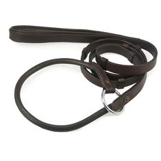 Leather Slip Lead with Stops, 6 Foot  - RuffGrip Dog Leashes