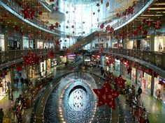 A shopping Mall at Christmas