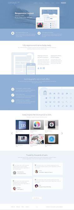 Concept 2 - Creative Stunning WordPress by sandracz.deviantart.com on @deviantART