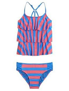 Stripe Tankini Swimsuit   Girls Tankinis Swimwear   Shop Justice