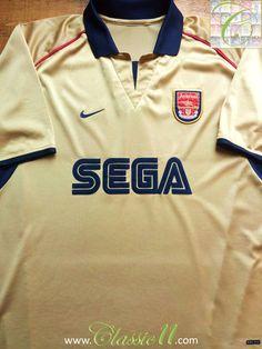 909685bad 2001 02 Arsenal Away Football Shirt (XL)