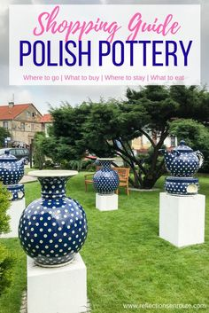 Looking for that perfect European souvenir? Polish pottery is it. Everyone loves the traditional blue and white Polish pottery patterns that adorn everything you could need in your kitchen. Click here to read our guide. Polish pottery mugs | Polish pottery dinnerware | Polish ceramics | Boleslawiec Polish pottery Pottery Tools, Pottery Mugs, Pottery Art, Blue Pottery, Germany Destinations, Travel Destinations, Pottery Courses, Pottery Patterns, Pottery Store