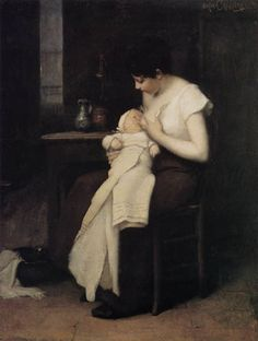 The Young Mother, ca. 1879   Eugène Carrière,