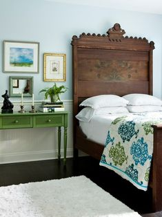 Eclectic Bedroom Nightstands Design, Pictures, Remodel, Decor and Ideas - page 8 Not this room, but I like the mirror mixed with the paintings.