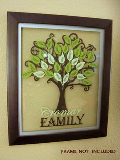 Beautiful Custom Vinyl Family Tree Kit! You can buy it on etsy from my sister. I can't wait for mine to come!!!