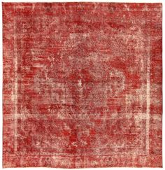 Red Overdyed Rug 1