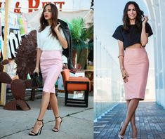Pencil skirt to office. Color combinations and tips - by Style Advisor