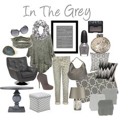 """In The Grey"" by Zuniga Interiors on Polyvore"