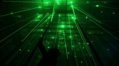 'forest' a large interactive musical laser installation by marshmallow laser feast♥