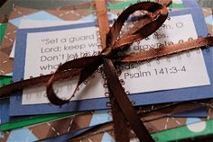 Baby Shower- praying scripture with baby's name inserted.
