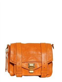 orange leather bag by proenza schouler