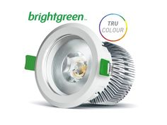 D900+ TRU-COLOUR 16w LED Downlight Curve Interchangeable Brightgreen, $95.00
