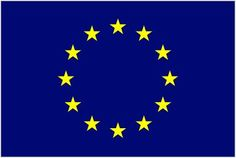 The flag of the European Union since 1955. Showing 12 golden stars on a blue field; it is a real beauty.