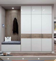 Wall Wardrobe Design, Wardrobe Door Designs, Bedroom Closet Design, Laundry Room Design, Home Room Design, Home Interior Design, House Design, Home Entrance Decor, Apartment Entrance