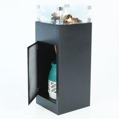 Aluminium vuurzuil 110 cm. hoog. Hierin kan een gasfles van 10 kg mooi worden verborgen. Een gasfles van 10 kg is goed voor circa 50 branduren.