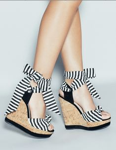 Stripe wedges - perfect for summer