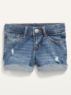 Saw this on Old Navy: Old Navy Toddler Girl, Shop Old Navy, Distressed Jeans, Jean Shorts, Perfect Fit, How To Wear, Clothes, Contrast, Dads