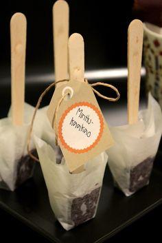 Minttusuklaa lusikat // Mint chocolate spoons