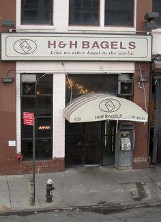 The famous H Bagels