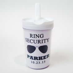 ring bearer ring security sippy cup