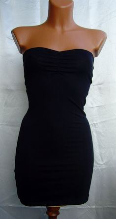 Your place to buy and sell all things handmade Sexy Little Black Dresses, Sexy Summer Dresses, Tight Dresses, Sexy Dresses, Black Tube Dress, Black Strapless Dress, Dress To Impress, Homecoming, Night