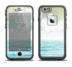 The Paradise Vintage Waves Apple iPhone 6/6s Plus LifeProof Fre Case Skin Set from DesignSkinz