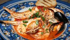 Zuppa di pesce alla brindisina (soup of ,fresh, fish)