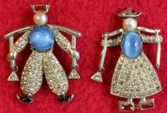 Vintage Dutch Water Boy & Girl Pins - $125