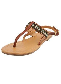 Shop Prima Donna - Sani T-Strap Sandals Cognac at Prima donna