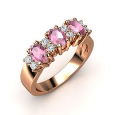 The Dynasty Ring customized in pink tourmaline, diamond & rose gold #customizable #jewelry