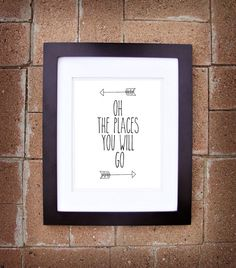 Oh The Places You Will Go (Arrow Collection) - 8x10 Printable Art - Instant Download on Etsy, $10.00
