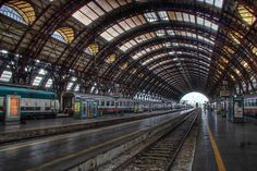 Milano Stazione Centrale Ferrovie.  Very large, confusing train station.