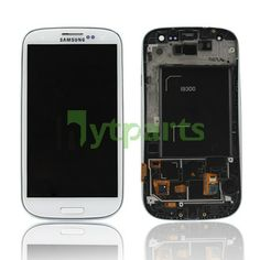 Repalcement LCD Touch Screen Display with Digitizer Touch &frame White For Samsung Galaxy S3 III GT-I9300 i535 i747  Genuine LCD with LED Backlight and Touch Screen preassembled