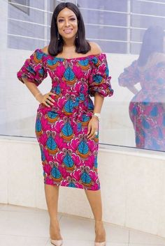 Ghanaian TV Star Joselyn Dumas Rock This Lovely Classical Ankara Gown Styles well as usual African Inspired Fashion, Latest African Fashion Dresses, African Print Dresses, African Dresses For Women, African Print Fashion, Africa Fashion, African Attire, African Wear, African Women