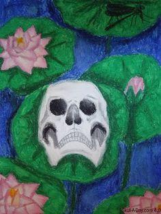 Dia de la Abby: #5 - Oil Pastel Skull