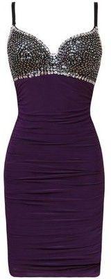 Wowza! - amazing purple sparkly dress?  Yes, please!